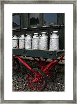 Railroad Milk Cans Framed Print