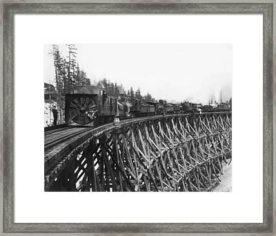 Railroad Rotary Snow Plow Framed Print