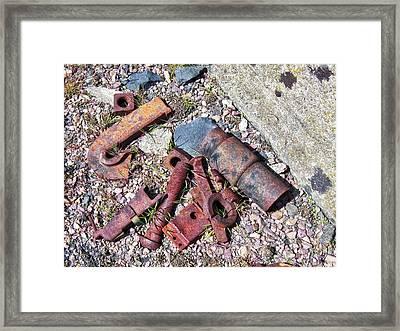 Railroad Siding Debris Framed Print by Daniel Hagerman