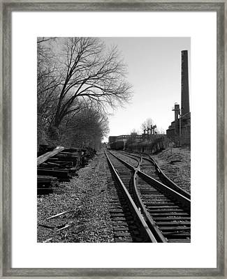 Railroad Siding Framed Print