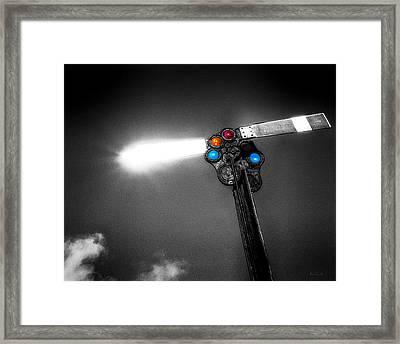 Railroad Signal Framed Print by Bob Orsillo