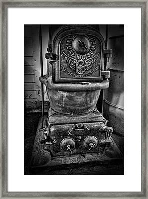 Railroad Smoke Consumer Stove Framed Print