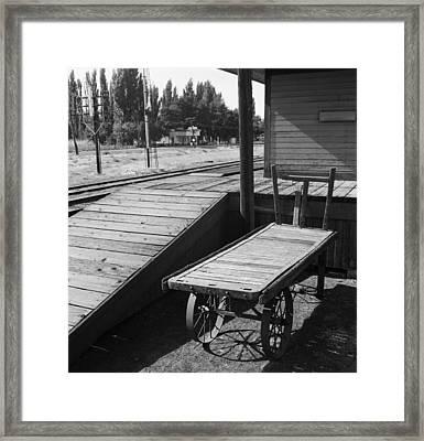 Railroad Station, 1939 Framed Print by Granger