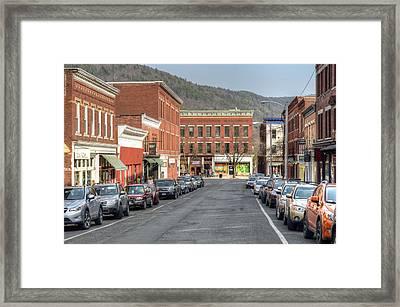 Railroad Street - Great Barrington Framed Print by Geoffrey Coelho
