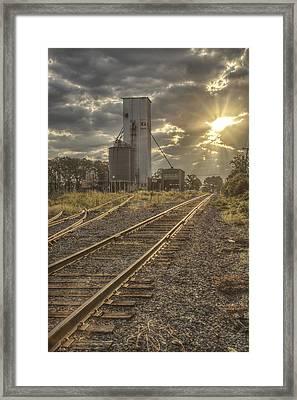 Railroad Sunrise Framed Print