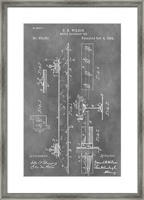 Railroad Tie Patent Framed Print