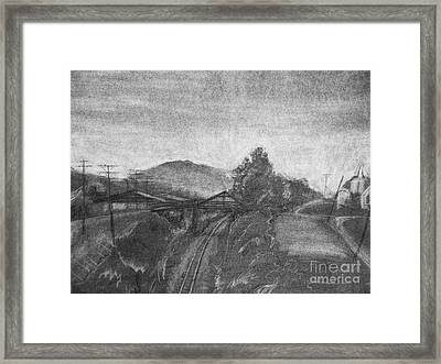 Railroad To Coal Mine. Framed Print