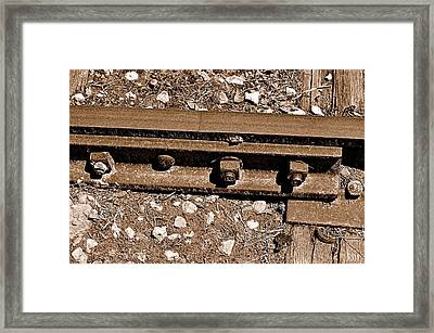 Railroad Track Framed Print by Andres LaBrada