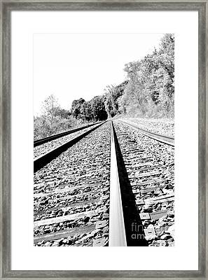 Framed Print featuring the photograph Railroad Track by Joe  Ng