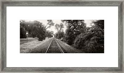 Railroad Track, Napa Valley Framed Print