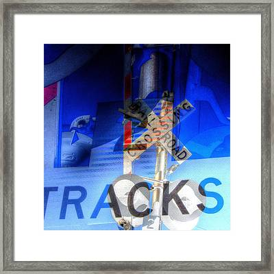 Railroad Tracks Framed Print by Cathy Lindsey