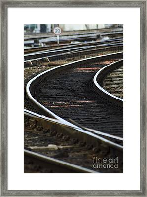 Railroad Tracks Framed Print by Crown Copyright/Health & Safety Laboratory