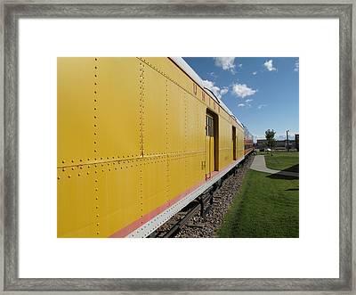 Railroad Train Framed Print by Frank Romeo