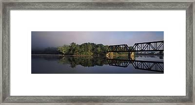 Railroad Trestle On Connecticut River Framed Print