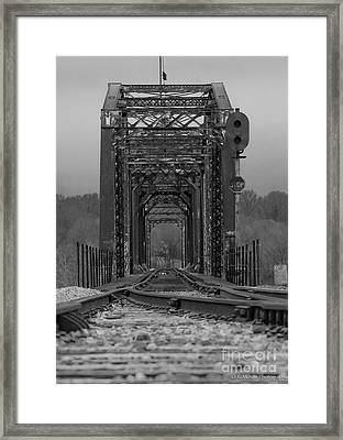 Railroad Trestle Framed Print by Rick McKee