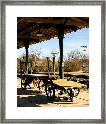 Railroad Wagons Framed Print by Denise Beverly
