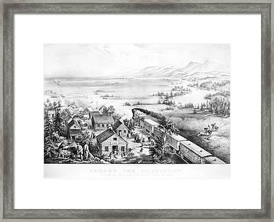 Railroad West, 1868 Framed Print by Granger