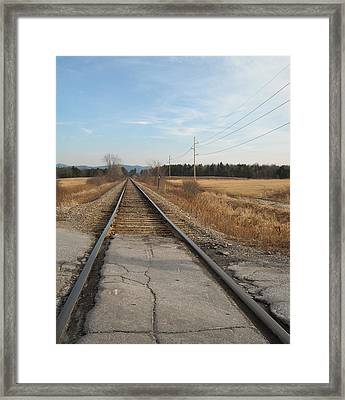 Rails And Lines Framed Print