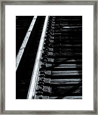 Rails And Ties Framed Print by Bob Orsillo