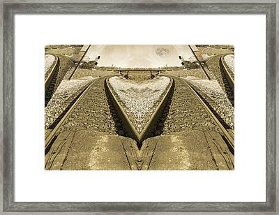 Rails Framed Print by Betsy Knapp