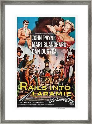 Rails Into Laramie, Us Poster Art, Dan Framed Print by Everett