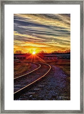 Rails Framed Print by Skip Tribby
