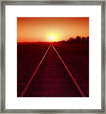Rails To The Sun Framed Print
