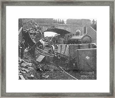 Railway Accident, 1899 Framed Print