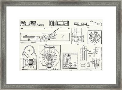 Railway Apparatus At The Paris Electrical Exhibition Fig Framed Print by French School
