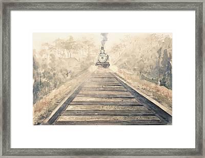 Railway Bound Framed Print