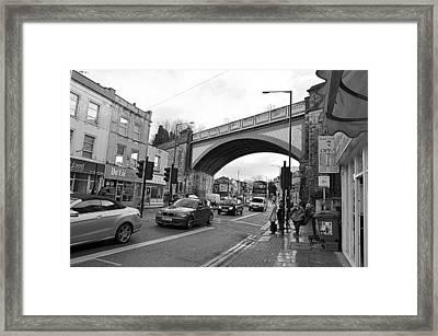 Railway Bridge Framed Print by Bishopston Fine Art