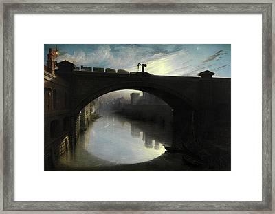 Railway Bridge Over The River Cart, Paisley Signed Framed Print