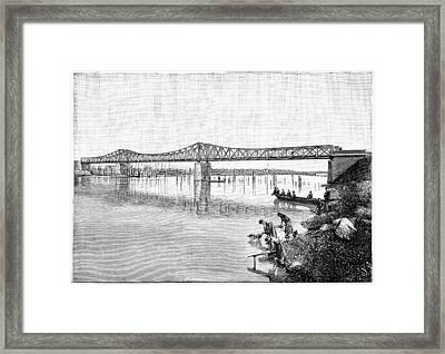 Railway Bridge Over The Tanaro, 1893 Framed Print