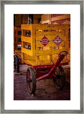 Railway Cargo Wagon Framed Print by Paul Freidlund