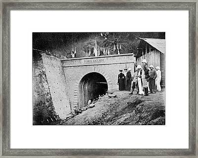 Railway Construction Framed Print by Cci Archives