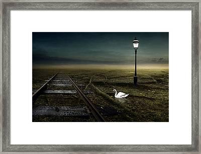Railway Framed Print by Johan Lilja
