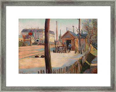 Railway Junction Near Bois-columbes Framed Print