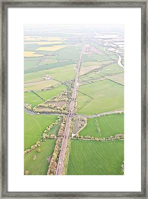 Railway Line Framed Print by Tom Gowanlock