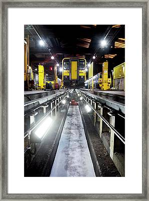 Railway Service Depot Framed Print by Mark Sykes