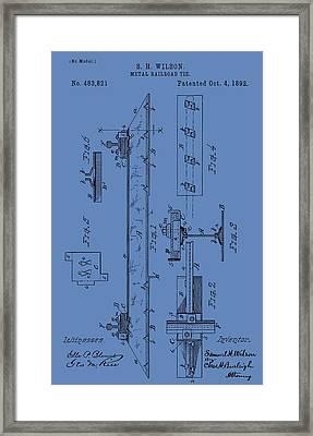 Railway Sleeper Patent Framed Print
