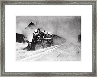 Railway Snow Plough Framed Print by Cci Archives