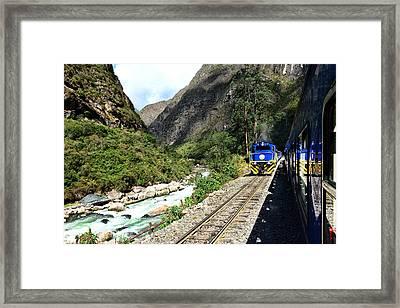 Railway To Machu Picchu Framed Print