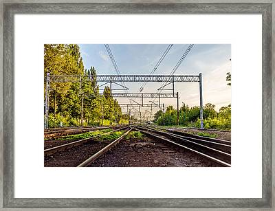 Railway To Nowhere Framed Print