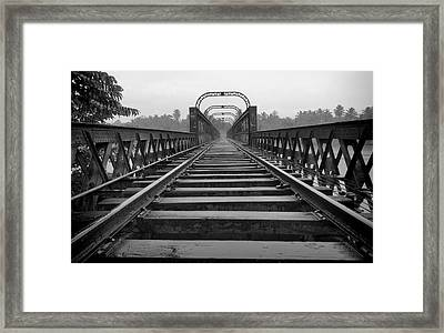 Railway Tracks Framed Print by Sanjeewa Marasinghe