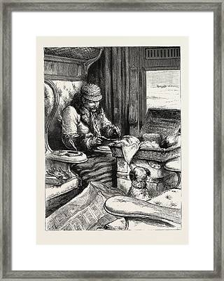 Railway Travelling First Class Framed Print