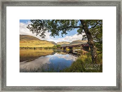Railway Viaduct Over River Orchy Framed Print