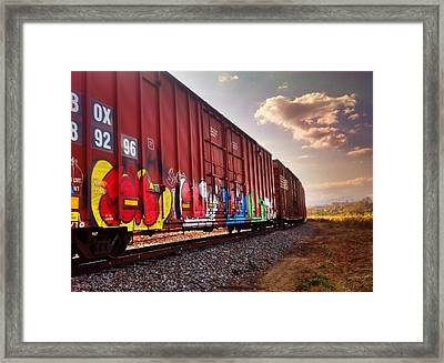 Railways Framed Print by Janice Spivey