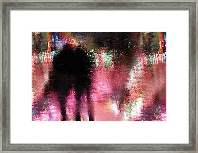 Rain Above The Funfair Framed Print