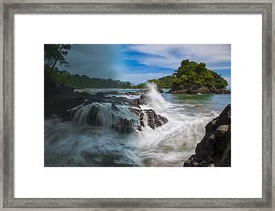 Rain And Shine At Manuel Antonio Beach Framed Print