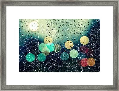 Rain And The City Framed Print